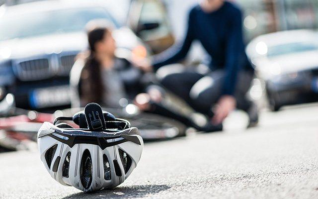 Prometna nesreča z udeleženim kolesarjem