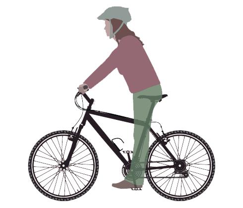 Višina kolesarskega sedeža