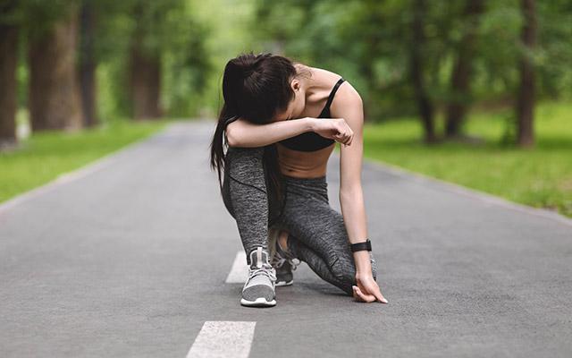 Izčrpanost med tekom po bolezni
