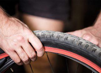 Menjava pnevmatike na gorskem kolesu