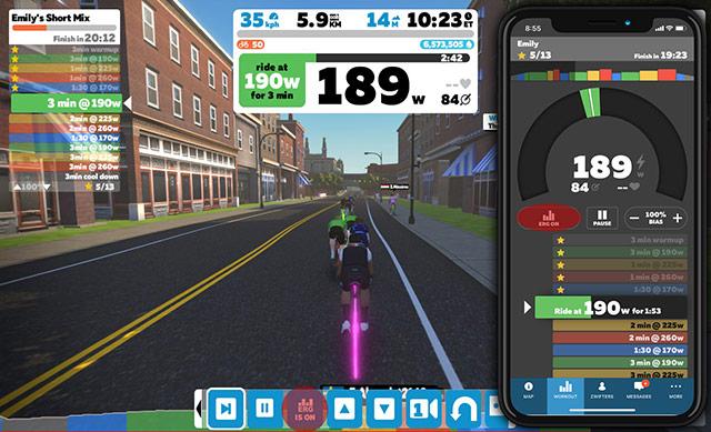Zwift skupinsko kolesarjenje