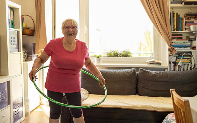 Hula hoop vadba za starejše